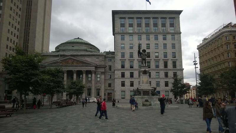 Square opposite Notre-Dame Basilica of Montréal