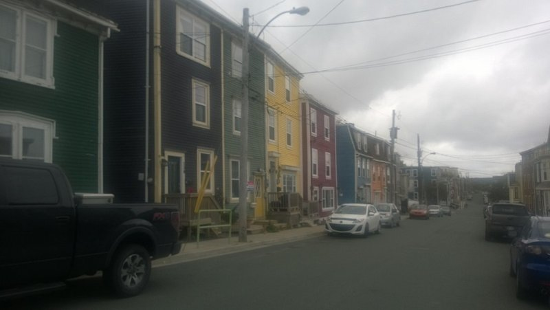 Coloured Houses, Misty Day