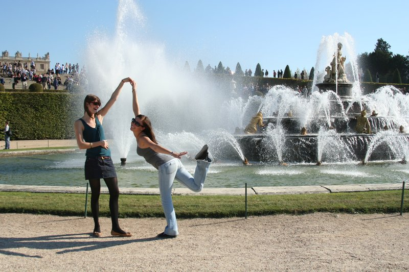 Versailles Fountain Posing