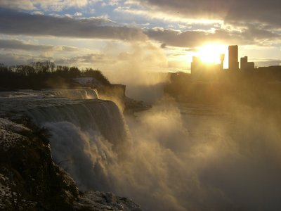 Niagara Falls at Sundown