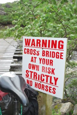 Thank God I didn't bring the horse