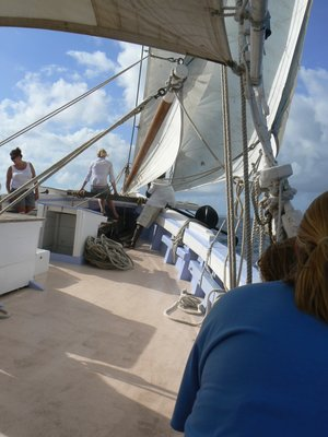 Sailing to Tobago Cays on the Friendship Rose