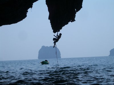 aa deep water solo climbing railay thailand