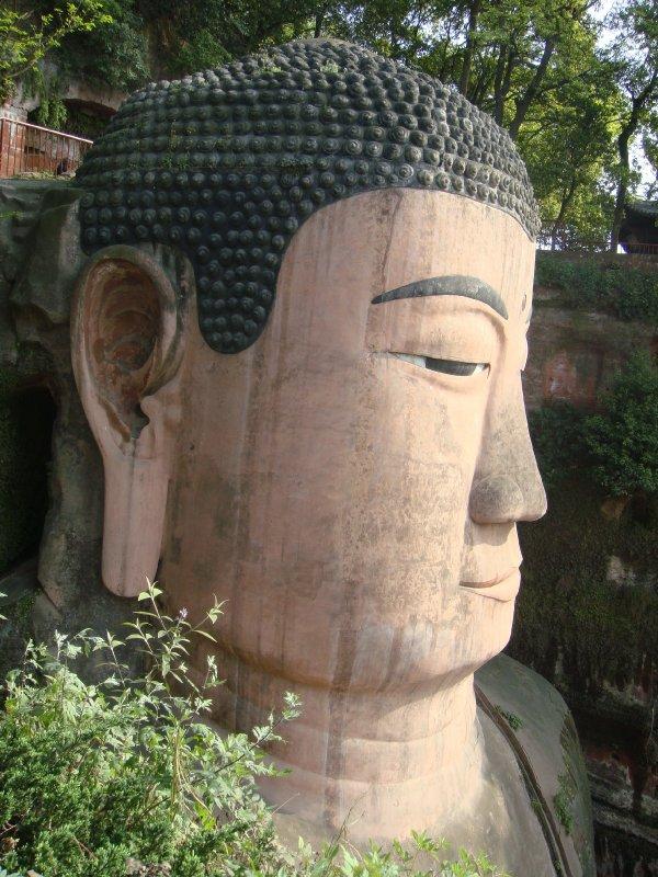 Giant Buddha's head