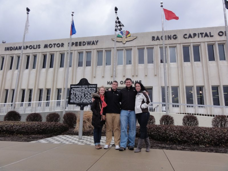 Outside the Indianapolis Motor Speedway