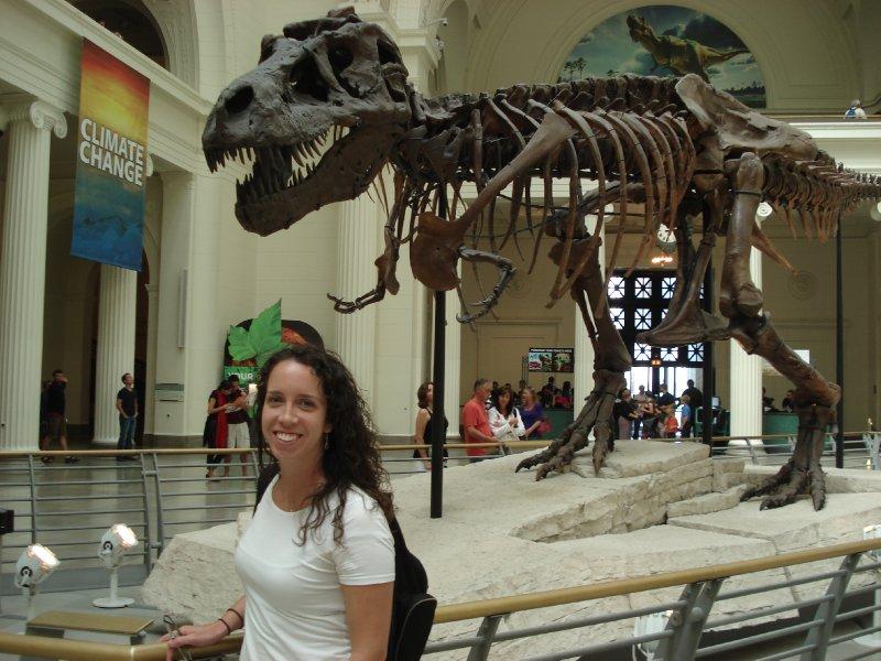 Megan and T-Rex Skeleton