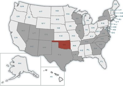 Where Is Oklahoma Online Map - Oklahoma in us map