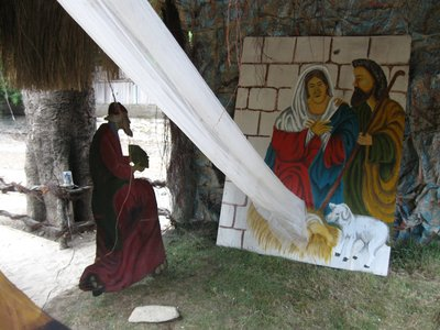 Closeup of nativity scene on our street