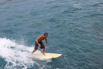 surfer at the china wall
