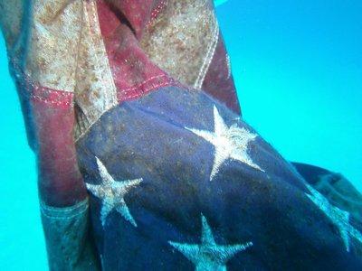 underwater flag