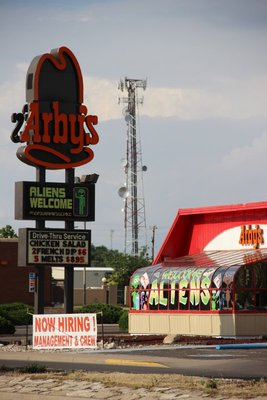 Aliens Welcome at Arbys