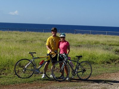 Biking along the caribbean