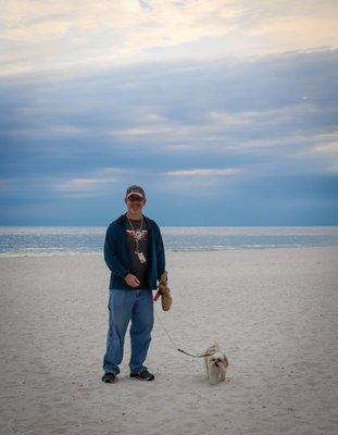 Curt and Emma on the beach