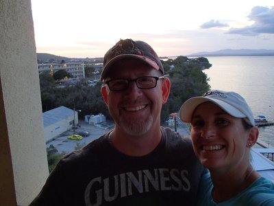 Curt and I having sundowners