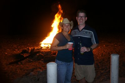Curt and I with the bonfire