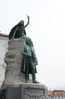 Preseren statue