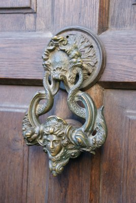 The knocker to Dracula's castle