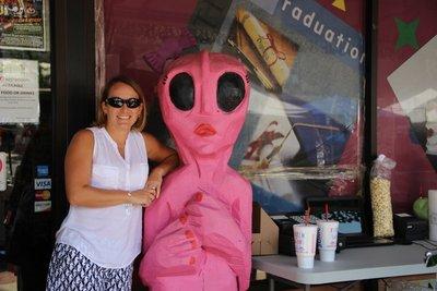 Even pink aliens