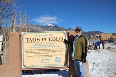 Taos Pueblo sign