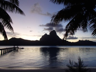 end of day in Bora Bora