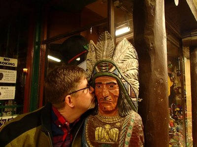 kissing the indian