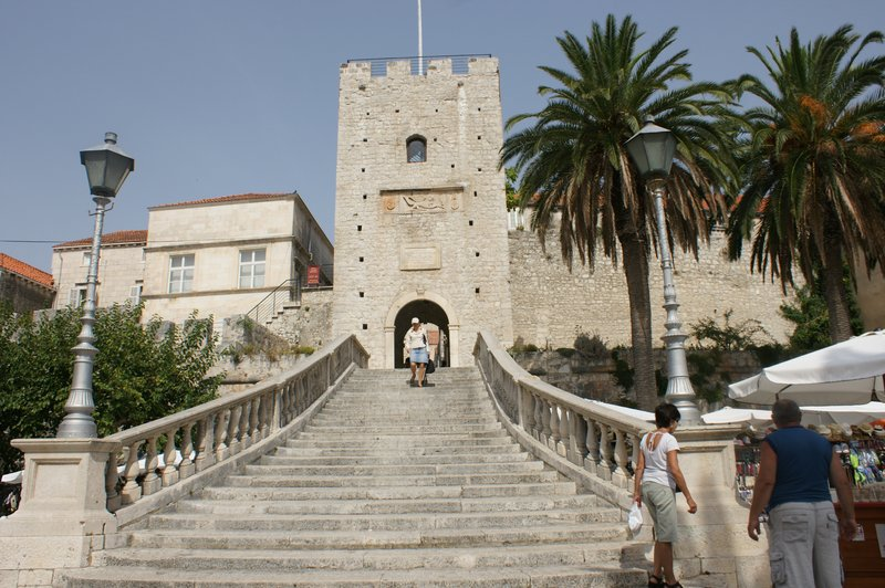 main stairs of Korcula