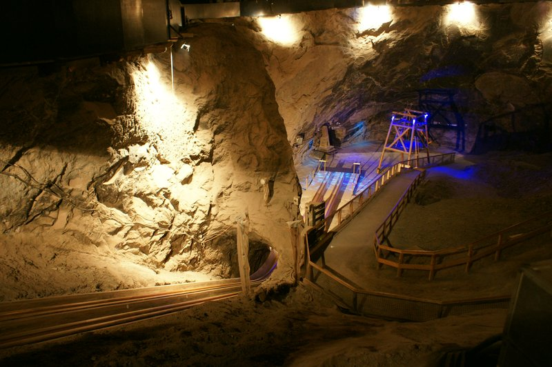 salt mine slide