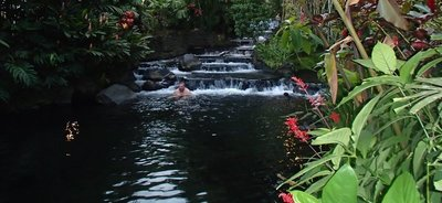 pools at Tabacon hot springs