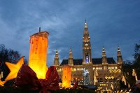 Rathaus Christmas market in vienna
