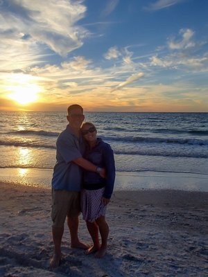 Curt and I at sunset