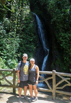 waterfall in Mistico Hanging Bridges Park