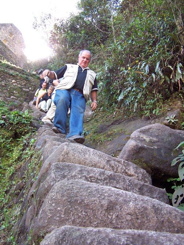 Tiny steep stairs
