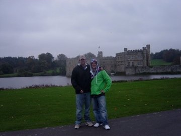 CC and I in front of Leeds Castle