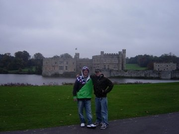 Duffy and I in front of Leeds Castle
