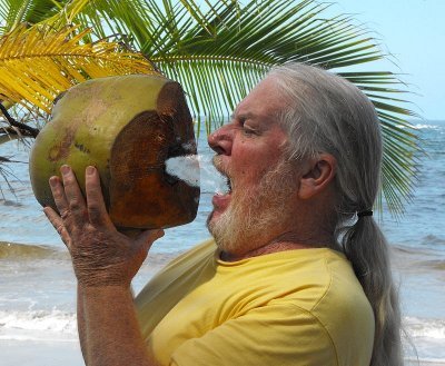 A thirsty moment in the tropics