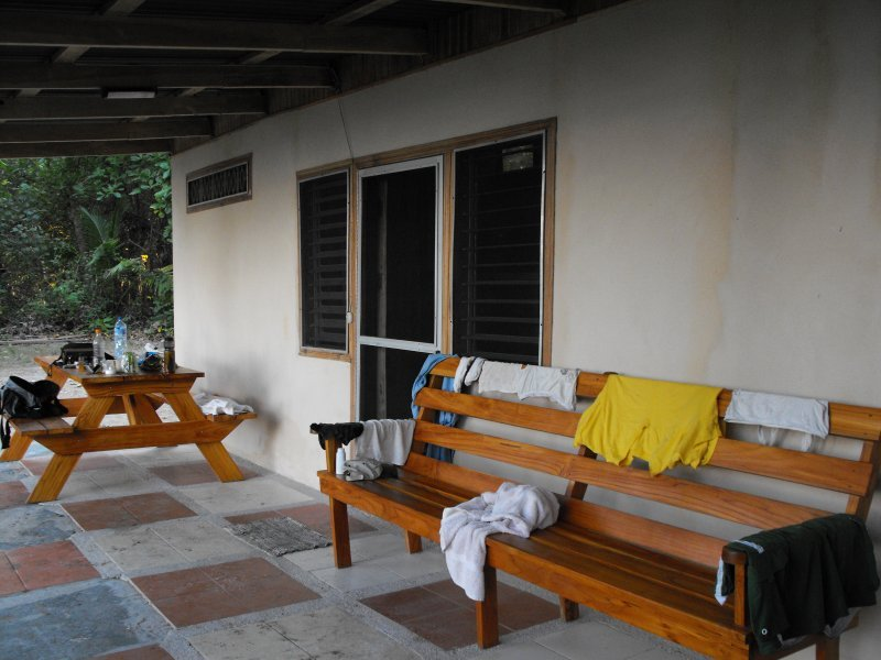 ACCOMMODATION CURU patio of cabin #6