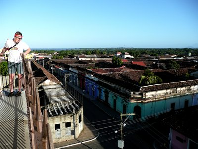 on top of church in granada, nicaragua