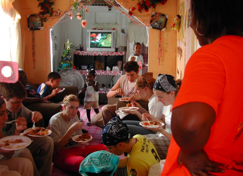 hungry workers fed in a belizean household
