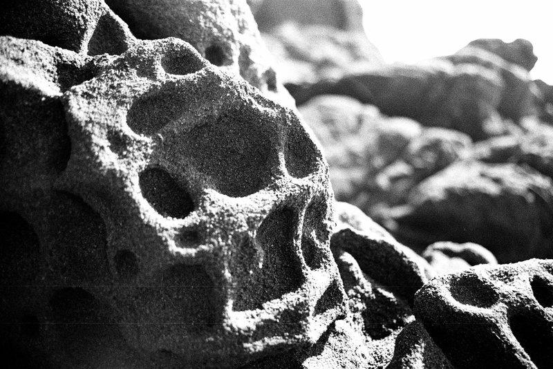 ocean washed rocks