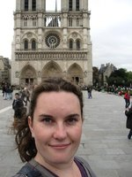 Outside the Notre Dame cathedral