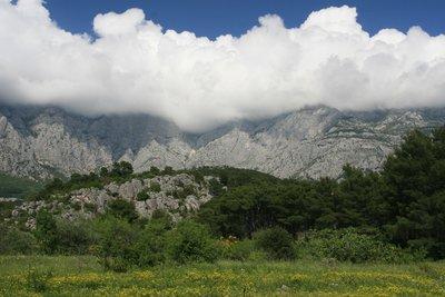 view of BIokovo nature park, dinali mountain range