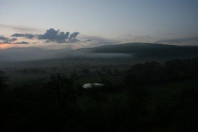 dawn entering split on train