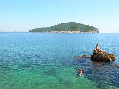 Lokrum island, off of Dubrovnik