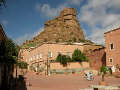village under rocks