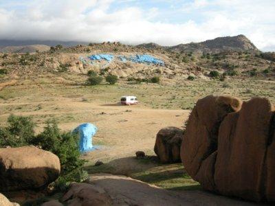 camper at blue rocks