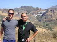 Daryl and Gareth near Casares, Andalucia, Spain