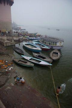 boats at varanasi
