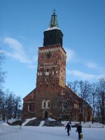 Sunny day Turku Cathedral