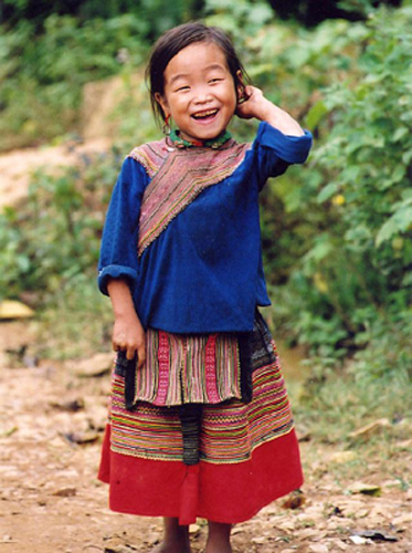 Cute girl, Sapa, Vietnam