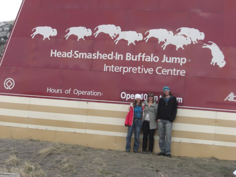 Head Smashed in Buffalo Jump - what a great name!